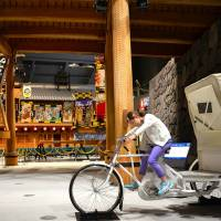 Nice wheels: One of several bicycle models found inside the Edo Tokyo Museum's main hall. | JASON JENKINS PHOTO