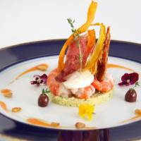 Pushkin art dining tie-up; Champagne brunch with parfait; craft beer with pot pie