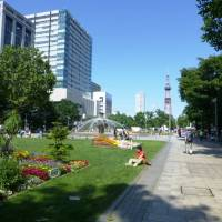 Part of Sapporo's central Odori Park with the 150-meter Sapporo TV Tower overlooking it. | MANDY BARTOK PHOTO