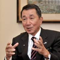 View from the top: Imperial Hotel President Tetsuya Kobayashi speaks in an interview at the hotel Nov. 4. | YOSHIAKI MIURA PHOTO