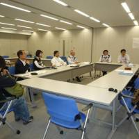 Back to school: Staff from Fuji Furukawa Engineering & Construction Co. in Kawasaki attend a recent English-language class. Many Japanese companies are providing English lessons to their employees to facilitate globalized operations. | FUJI FUKUKAWA E&C CO.