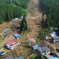 Four found dead in Akita landslide; torrential rain continues in Tohoku
