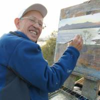 U.S. painter works to preserve beauty of Lake Biwa