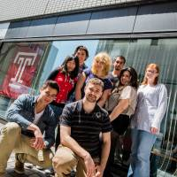 Higher learning: International students pose outside Temple University's Japan campus in Tokyo. | COURTESY OF TEMPLE UNIVERSITY