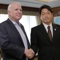 Abe urges McCain to budget for U.S. Marine forces shift to Guam