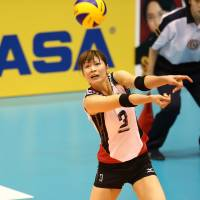 The leader: Japan captain Saori Kimura finished with a team-best 21 points in Saturday's match against the United States. | FIVB