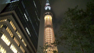 [VIDEO] Tokyo Sky Tree shines a light for the 2020 Olympic bid