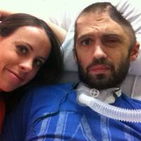 Fighting back: Thomas 'TC' Maslin and his wife, Abby Maslin, are seen in late 2012, a few months after he was assaulted with a baseball bat that crushed the left side of his head and left him in a coma for days. | THE WASHINGTON POST