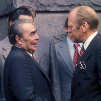Legacy: Leonid Brezhnev used the Hot Line several times with U.S. President Gerald Ford's predecessor, Richard Nixon, and successors Jimmy Carter and Ronald Reagan. | BLOOMBERG