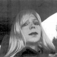 New life begins: This photo, provided by the U.S. Army, shows a photo of Bradley Manning wearing a wig and make-up.  Manning, sentenced to 35 years for leaking secret documents, said Thursday he now considers himself a woman and wants to be known as Chelsea. | AFP-JIJI