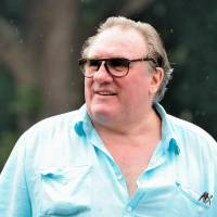 Misunderstood: Actor Gerard Depardieu arrives for a ceremony held in his honor at a chateau in Estaimpuis, Belgium, on Saturday. | AFP-JIJI