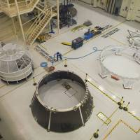 Rocket to ya: Components for the Orion Multi-Purpose Crew Vehicle sit on the floor at the NASA Kennedy Space Center at Cape Canaveral, Florida. | THE WASHINGTON POST