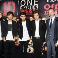 Nothing new here: Members of pop group One Direction and director Morgan Spurlock (second from right) at the New York premiere of 'This is Us' on Aug. 26. | AP