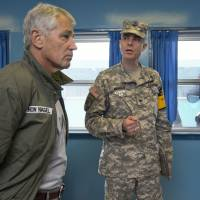 Troop command top issue as Hagel visits South Korea