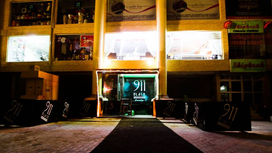 Making its presence heard: The reincarnation of 911 Black, located in Abuja's red-light district.