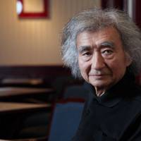 Summer's end: Conductor Seiji Ozawa says next year's opera component of Saito Kinen Festival Matsumoto will feature Giuseppe Verdi's 'Falstaff' conducted by Italy's Fabio Luisi. | CHIEKO KATO
