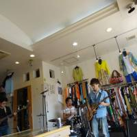 Up close: A band performs in a clothes store at a previous Nagaokakyo Music Shotengai Festival in Kyoto.