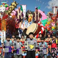 Marching orders: Children join last year's Oirase Shimoda Festival parade.