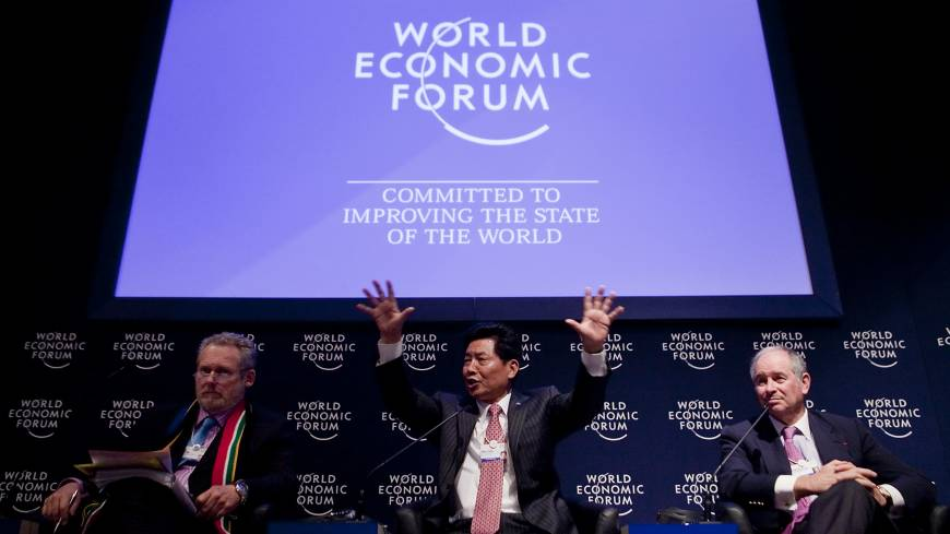 Davos comes from the Swiss resort where the WEF holds its annual meeting in January.