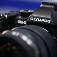 Flagship model: Olympus Corp.'s new high-end mirrorless camera, the OM-D E-M1, is unveiled on Tuesday. | BLOOMBERG