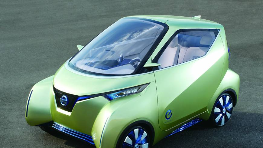The Nissan Leaf Autonomous Drive prototype.