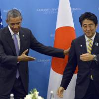 Abe, Obama agree to cooperate on Syria