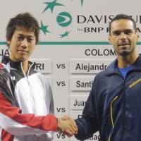 Spotlight shines on world No. 12 Nishikori for Davis Cup tie against Colombia