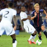 Keep your cool: Keisuke Honda says his focus will be solely on Russia during the remaining months of his contract with CSKA Moscow. | AFP-JIJI