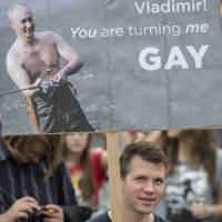 Gay Russian teens face life in closet