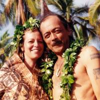 Hawaiian heritage: Janice 'Lokelani' Keihanaikukauakahihuliheekahaunaele and her husband, Loke, smile on their wedding day in December 1992. | AFP-JIJI