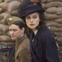 Leading man: James McAvoy and Keira Knightley walk together in this undated photo from the film 'Atonement.' | BLOOMBERG