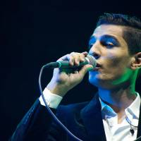 Winner: Mohammed Assaf performs on stage during his first concert outside the Arab world in The Hague on Sunday. | AFP-JIJI