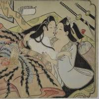 Lovers under a quilt with phoenix design, untitled erotic picture (mid-1680s) by Sugimura Jihei (fl. 1681-1703) | PRIVATE COLLECTION, USA