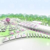 An illustration shows what this year's Tokyo Designers Week will look like. | CAMERON ALLAN MCKEAN