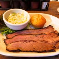 For those who wait: Smokehouse, a new restaurant from T.Y. Harbor Brewing in the Harajuku/Omotesando area, offers slow-cooked barbecue fare such as this brisket. | ROBBIE SWINNERTON