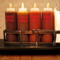 A selection of sauces. | ROBBIE SWINNERTON