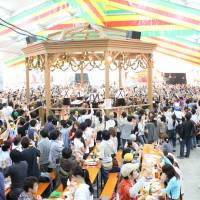 Roll out the barrel: A previous Oktoberfest celebration in Yokohama brings out plenty of beer lovers. This year, Germany's Woho Kalandar Band will soundtrack the party.