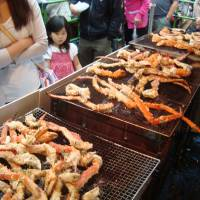 Northern soul: Crab legs are a popular meal in Hokkaido.