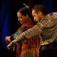 Spanish steps: Belen Maya (left) and Manuel Linan will perform 'Trasmin' at the Flamenco Festival in Tokyo this weekend. | ANTONINO VARONKOV