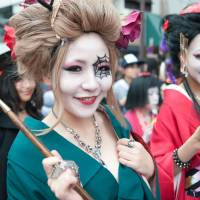 Spooky fun: Kawasaki Halloween Parade is a showcase of elaborate costumes.