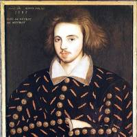 Men of mystery: This 1585 portrait is thought to be of Christopher Marlowe as its inscription says it is of a man of 21 in 1585, when Marlowe was the only 21-year-old student at Corpus Christi College, Cambridge, where it was found in 1952 and can still be seen. | WIKIMEDIA COMMONS