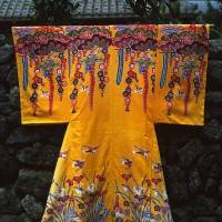 Picturesque: Dyed fabrics like this sample of bingata are made throughout the Yaeyama Islands. | STEPHEN MANSFIELD PHOTO
