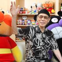 Full life: Takashi Yanase, creator of the 'Anpanman' comic book series, is seen at his studio in Tokyo's Shinjuku Ward in 2011. | KYODO