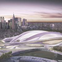 Grandiose and beyond: The new National Stadium, the main venue planned for the 2020 Tokyo Olympics, is seen in this illustration provided by the Japan Sport Council. | AP