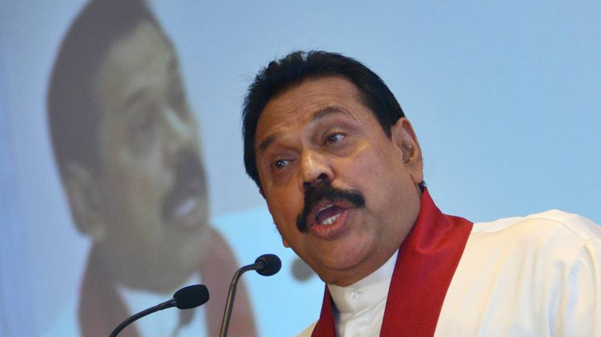'More avuncular than ogre': Sri Lankan President Mahinda Rajapaksa speaks during the Hindustan Times Leadership Summit in New Delhi in October 2007