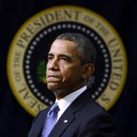 Bitter pill: U.S. President Barack Obama delivers a speech on the economy last month in Washington | AFP-JIJI
