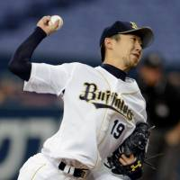 Overshadowed: Opposing batters are hitting just .206 against Orix ace Chihiro Kaneko this season. | KYODO