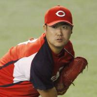 Big assignment: Right-hander Kan Otake is expected to be the Carp's Game 1 starter for the Central League Climax Series Final Stage against the Giants at Tokyo Dome on Wednesday. | KYODO