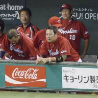 No smiles: Game 1 ended in disappointment for the Hiroshima Carp on Wednesday night at Tokyo Dome. | KYODO
