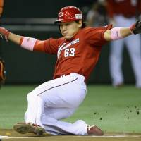 Signs of life: Yoshihiro Maru and the Hiroshima Carp hope to build on their appearance in the Central League Climax Series Final Stage next season. | KYODO